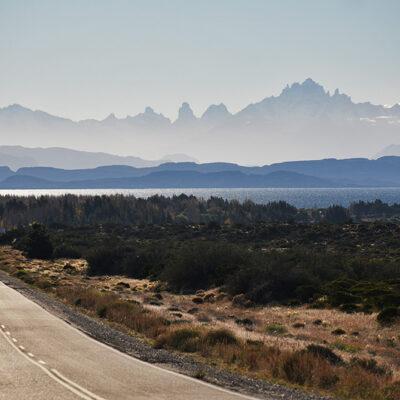 Chile Chico Range with Lake General Carrera and Cerro Castillo Massif in the background.