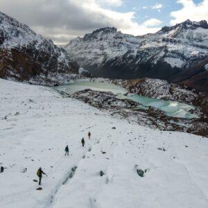 Descendiendo el Glaciar Guardaparques.