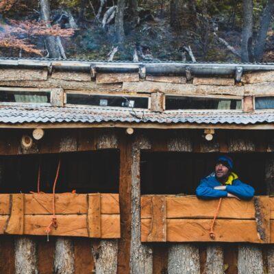 Our Glaciar Hut.